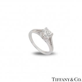 Tiffany & Co. Lucida Cut Diamond Ring 1.24ct I/VVS2